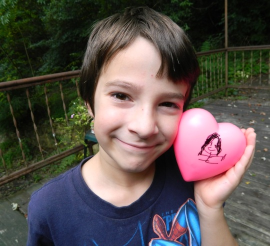 Malachi with his heart from Inez